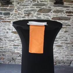 Serviette de table 100% polyester coloris orange, Anne-C