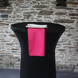 Serviette de table 100% polyester coloris fuchsia, Anne-C