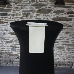 Serviette de table 100% polyester écrue, Anne-C