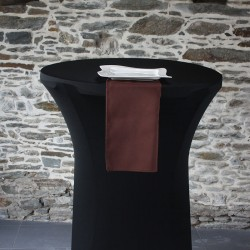 Serviette de table 100% polyester chocolat, Anne-C