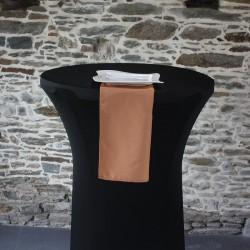 Serviette de table 100% polyester caramel, Anne-C