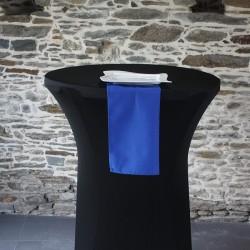 Serviette de table 100% polyester bleu marine, Anne-c