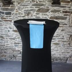 Serviette de table 100% polyester bleu ciel, Anne-C