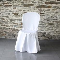 Housse de chaise polyester Miami,pli central, Anne-c