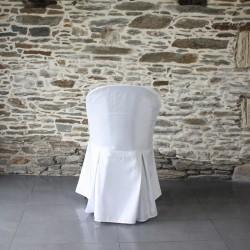 Housse de chaise polyester, 2 plis à l'arrière, Anne-C