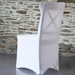 Housse de chaise lycra universelle - dos