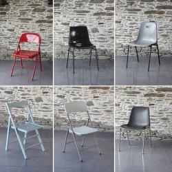 Les chaises basses et coques s'habillent en housse lycra chaise pliante, Anne-C