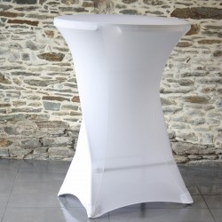 Housse table haute lycra