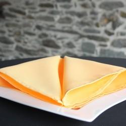 Serviette 100% polyester, coloris jaune, Anne-C