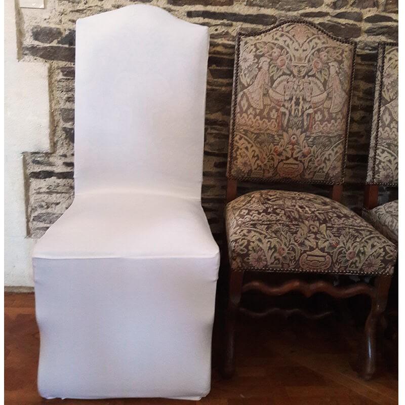 Housse lycra pour chaise Louis XIII, Anne-C