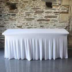 Housse de table juponnée lycra, Anne-C