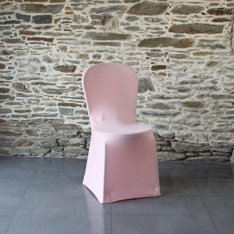 Housse de chaise rose lycra miami , Anne-C