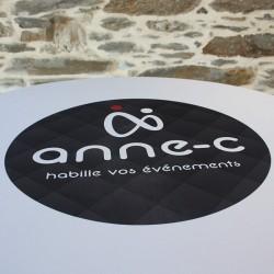 personnalisation logo sur tissu lycra , Anne-c