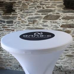 Plateau de mange debout personnalisé avec logo, Anne-C
