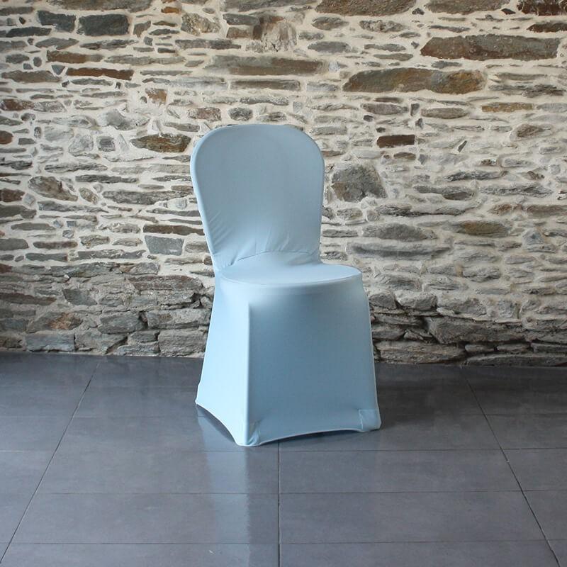 Housse de chaise bleu ciel, Anne-c