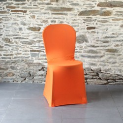 Housse de chaise orange corail miami, Anne-C