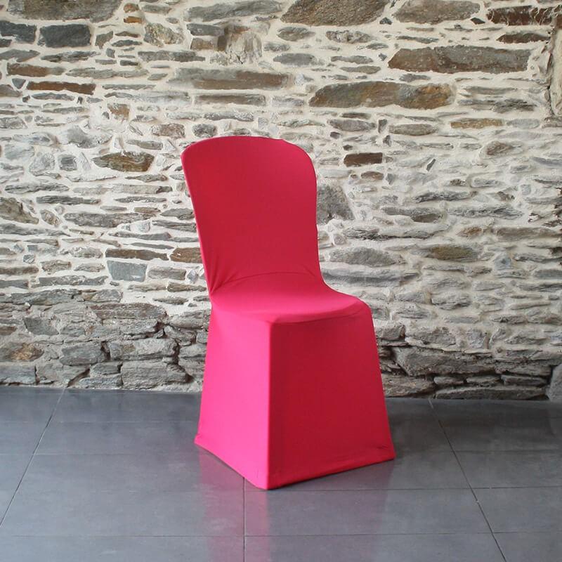 Housse de chaise fuschia lycra miami, Anne-C