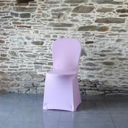 Housse de chaise parme Miami, Anne-C. Housse lycra adaptée aux chaises bistrot, miami, plastique empilable sans  accoudoir