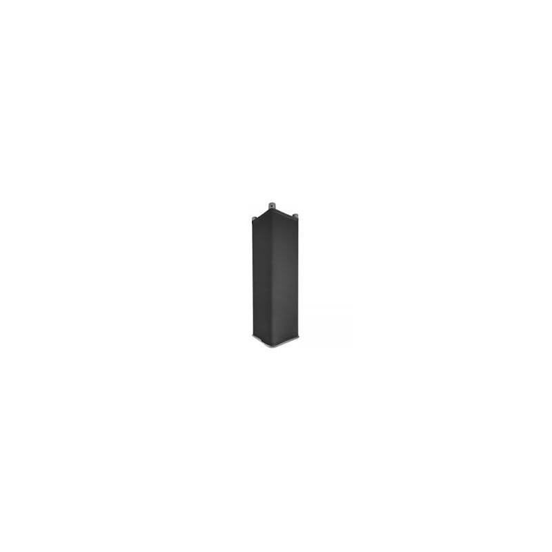housse totem triangle noire, cote 29 cm / 50 - 100-200 ou 300 cm de hauteur. version chaussette lycra 210 gr/m²