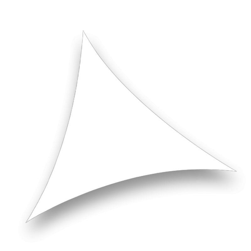 voile triangle lycra blanc 210 gr/m² idéale pour séparer des espaces, habiller des plafonds