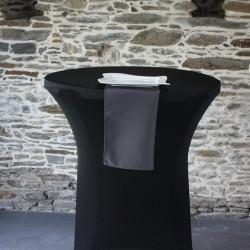 serviette polyester gris foncé réf 54 se décline en 40 et 50 cm