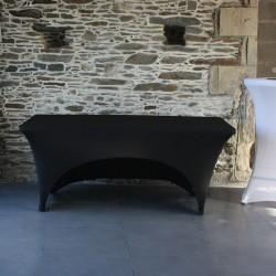 housse de table lycra ouverte noire Anne-C