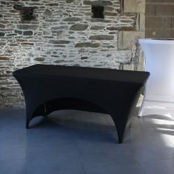 nappe buffet noire avec une ouverture sur longueur pour stockage