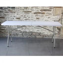 table pliante 180 x 80 cm idéale pour housse de table lycra