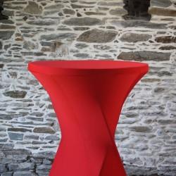 Housse lycra rouge pour mange debout, Anne-C