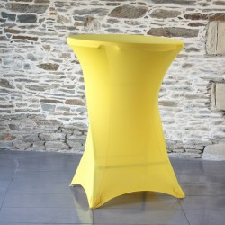 Housse mange debout lycra jaune#04