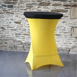 Housse mange debout jaune avec top noir - lycra 210 g/m²