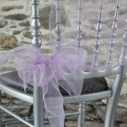Ceinturage, nœud de chaise organza parme, Anne-C