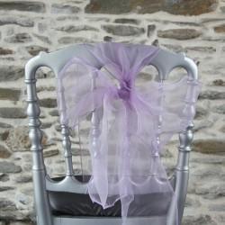 Nœud de chaise organza, parme, Anne-C