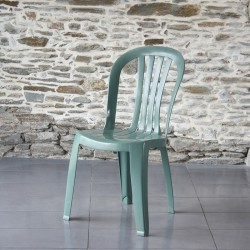 Chaise empilable Miami verte