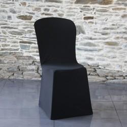 Coup de coeur housse chaise miami noire sans arche
