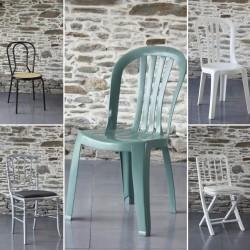 Les chaises type Miami ou bistrot grosfillex pour housse de chaise miami en lycra, Anne-C