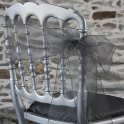 Nœud de chaise en organza gris, Anne-C