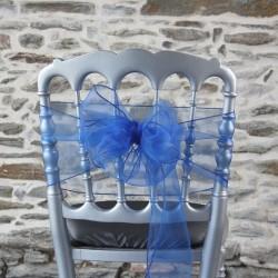 Nœud de chaise en organza bleu marine, Anne-C
