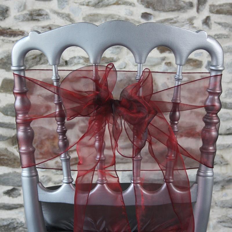 Ceinturage organza coloris Bordeaux, Anne-c