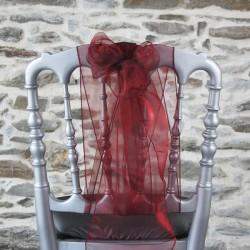 Nœud de chaise organza bordeaux, Anne-C