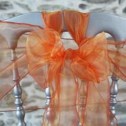 Nœud de chaise en organza coloris orange, Anne-C