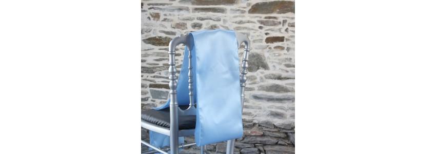 Nœud de chaise satin, un ceinturage pour une décoration événementielle
