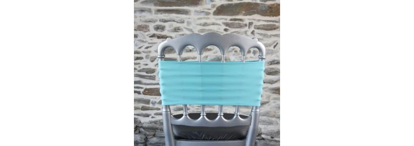Bandeau lycra de chaise, un nœud de chaise plus moderne